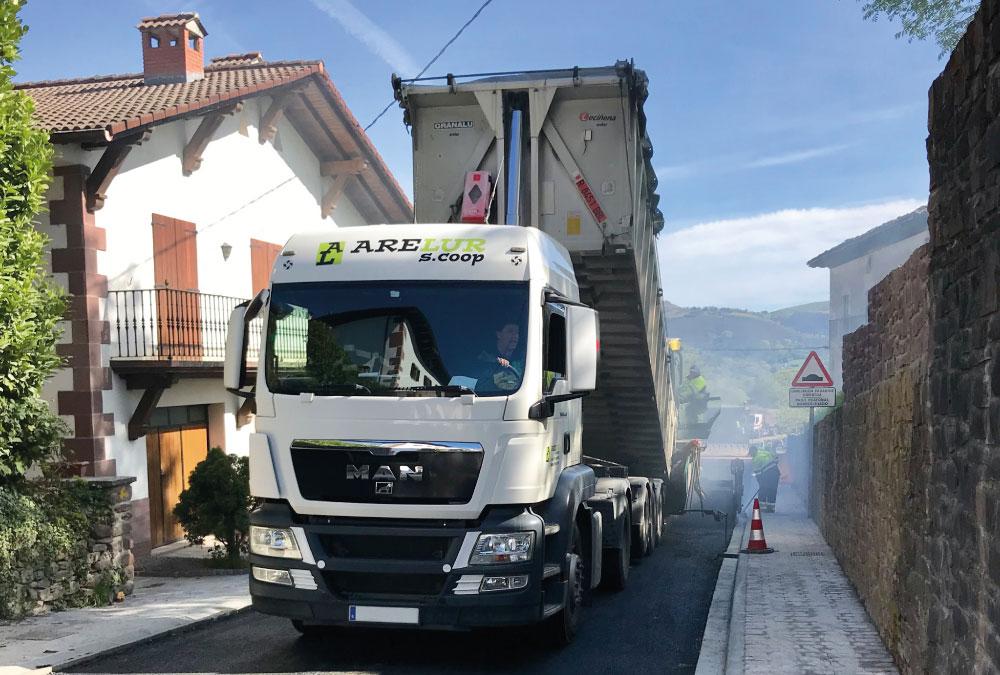 Transportes y basculantes | ARELUR | Trabajos realizados | Lasarte Gipuzkoa